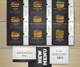 Fast food menu price list vector design 01
