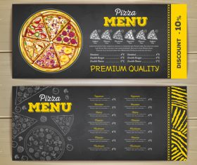 Fast food sketch menu template vector 05