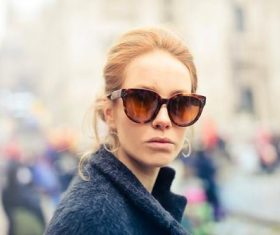 Female wearing sunglasses Stock Photo 08
