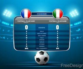 Football match scoreboard template vectors 01