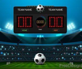 Football match scoreboard template vectors 02