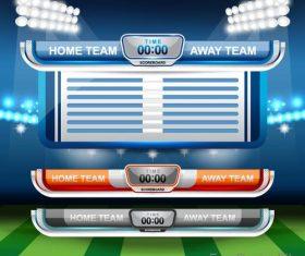 Football match scoreboard template vectors 04