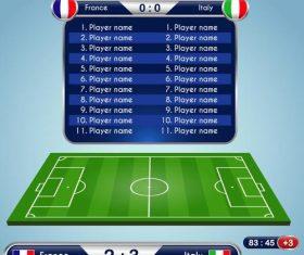 Football match scoreboard template vectors 05