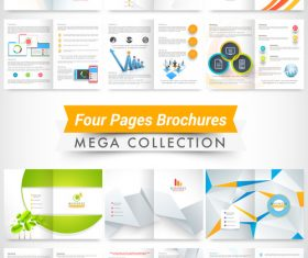 Four page brochures template vectors