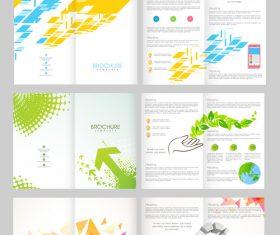 Four page brochures template vectors 02