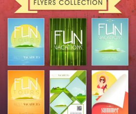 Fun vacations flyer template vector