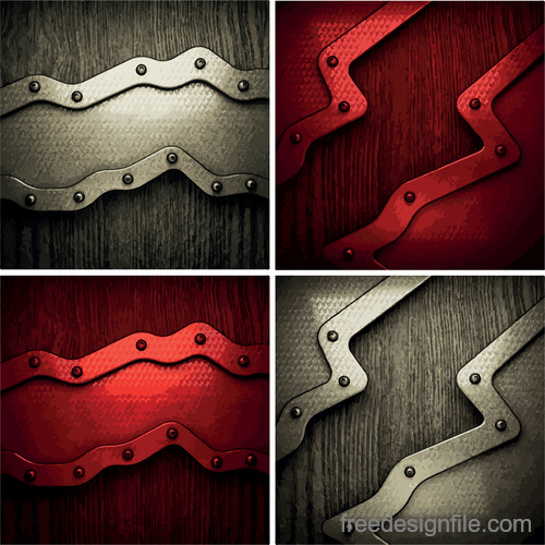 Future vector wood background 02