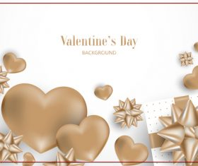 Gray valentines day decor with white background vector