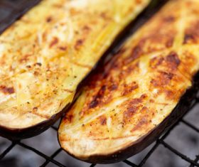 Grilled eggplant Stock Photo