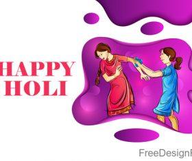 Happy holi festival design vectors material 07
