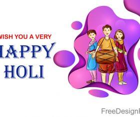 Happy holi festival design vectors material 08