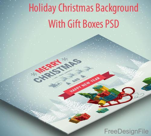 Holiday Christmas Winter with Snow PSD background