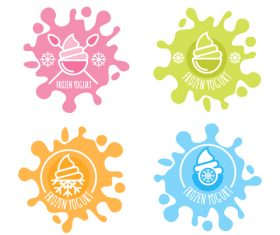 Ice cream labels illustration vectors