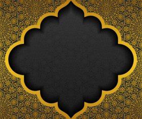Islam golden decor background vectors set 05