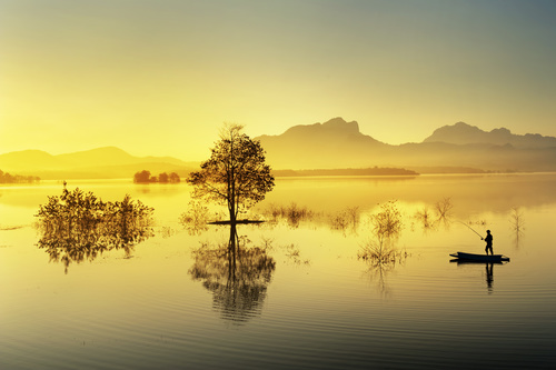 Lake nature landscape Stock Photo 03
