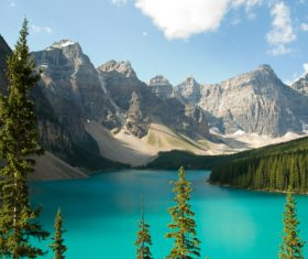 Lake nature landscape mountain forest Stock Photo 07