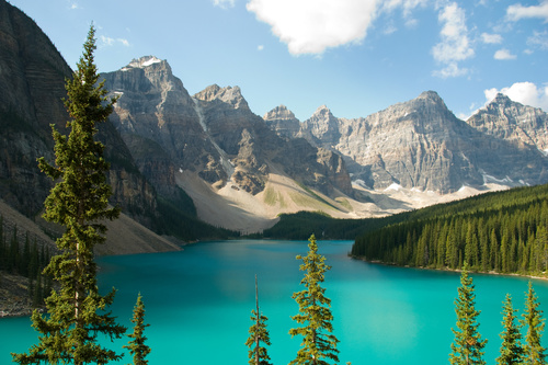 Lake nature landscape mountain forest Stock Photo 07