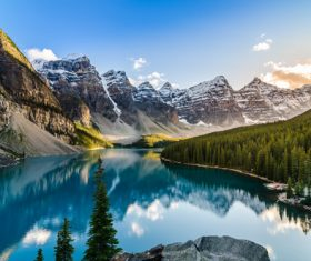 Lake nature landscape mountain forest Stock Photo 10