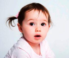 Little girl with big eyes Stock Photo