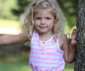 Lively cute little girl Stock Photo 01