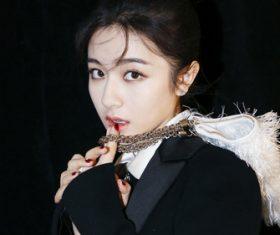 Lovely naughty Asian girl Stock Photo 02