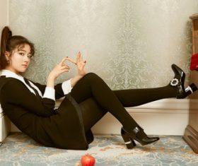 Lovely naughty Asian girl Stock Photo 03