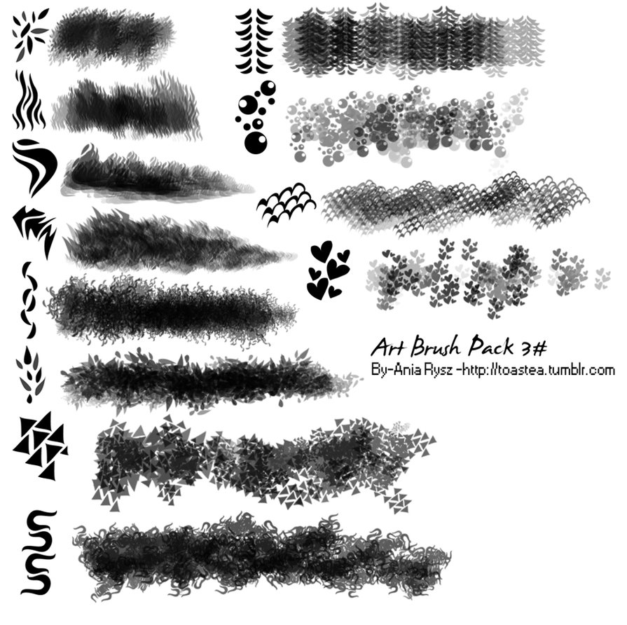 Messy Art Photoshop Brushes