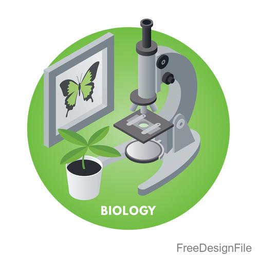 Microscope design vector set 04
