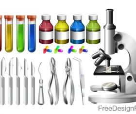 Microscope design vector set 05