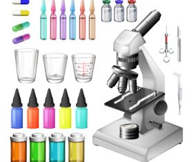 Microscope design vector set 06