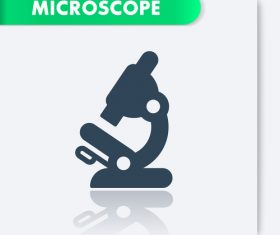 Microscope laboratory icon