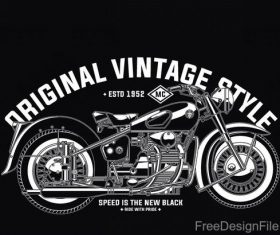 Motorcycle emblem design vintage vectors 03
