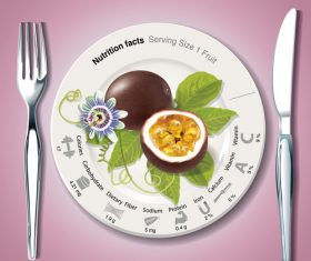 New Nutrition facts in passion fruit vector