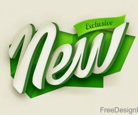 New green label design vector
