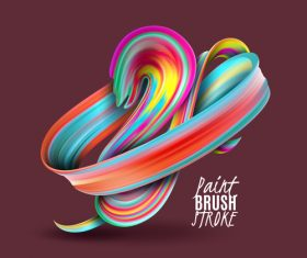 Paint brush stroke with brown background vector