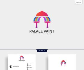 Palace paint logo and business card template vector 01