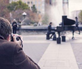 Photographer Musician Stock Photo