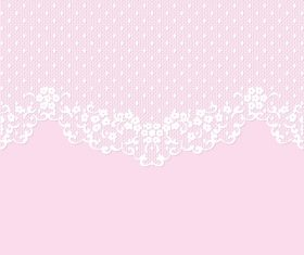 Pink lace borders vectors 01