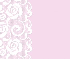 Pink lace borders vectors 02