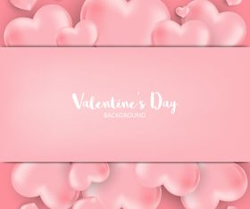 Pink valentines day background vectors 01