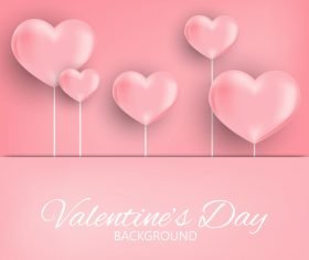 Pink valentines day background vectors 02
