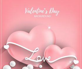 Pink valentines day background vectors 03
