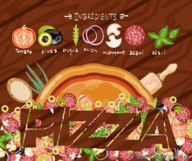 Pizza table design vector