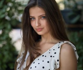 Pure and pretty young girl Stock Photo