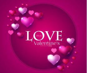 Purple valentines day card vector design vector 04