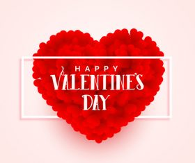 Red heart combination and valentines day card vector