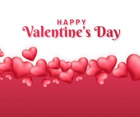 Red with white valentines day background vector