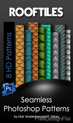 Roof Tiles Seamless Photoshop Patterns