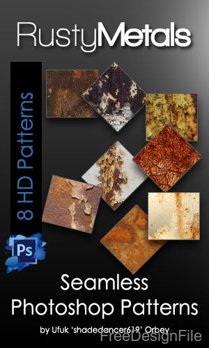 Rusty Metal Seamless Photoshop Patterns