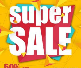 Sale special offer discount poster vector template 01